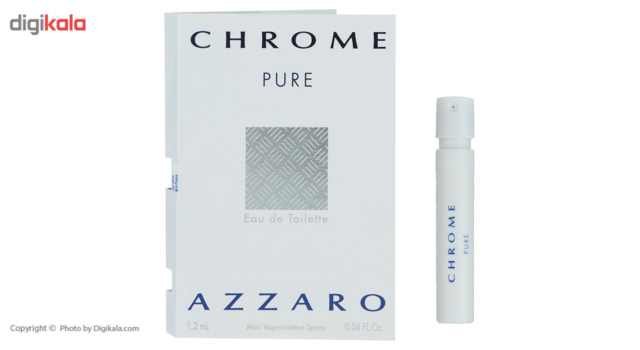 خرید اینترنتی تستر ادوتویلت مردانه آزارو مدل Chrome Pure حجم 1.2 میلی لیتر اورجینال