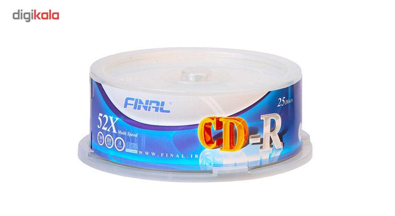 سی دی خام فینال بسته 25 عددی main 1 1