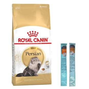 غذای خشک گربه رویال کنین مدل Persian Adult وزن 2 کیلوگرم به همراه بستنی گربه