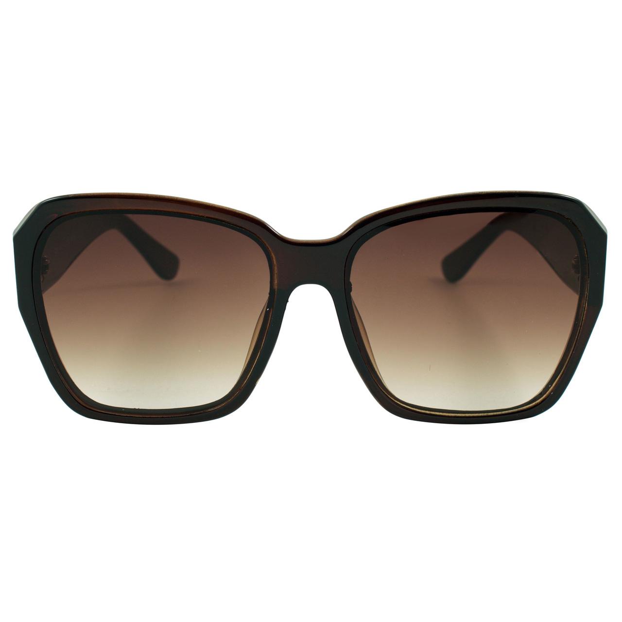 عینک آفتابی زنانه مدل Transparent Brown Cubic