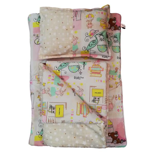 سرویس خواب نوزادی 3 تکه تاپ دوزانی مدل بیرلی گرل