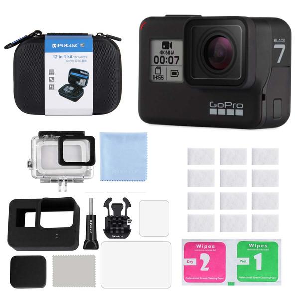 دوربین فیلم برداری ورزشی گوپرو مدل HERO7 Black Quick Stories به همراه کیف لوازم جانبی پلوز 12 تکه