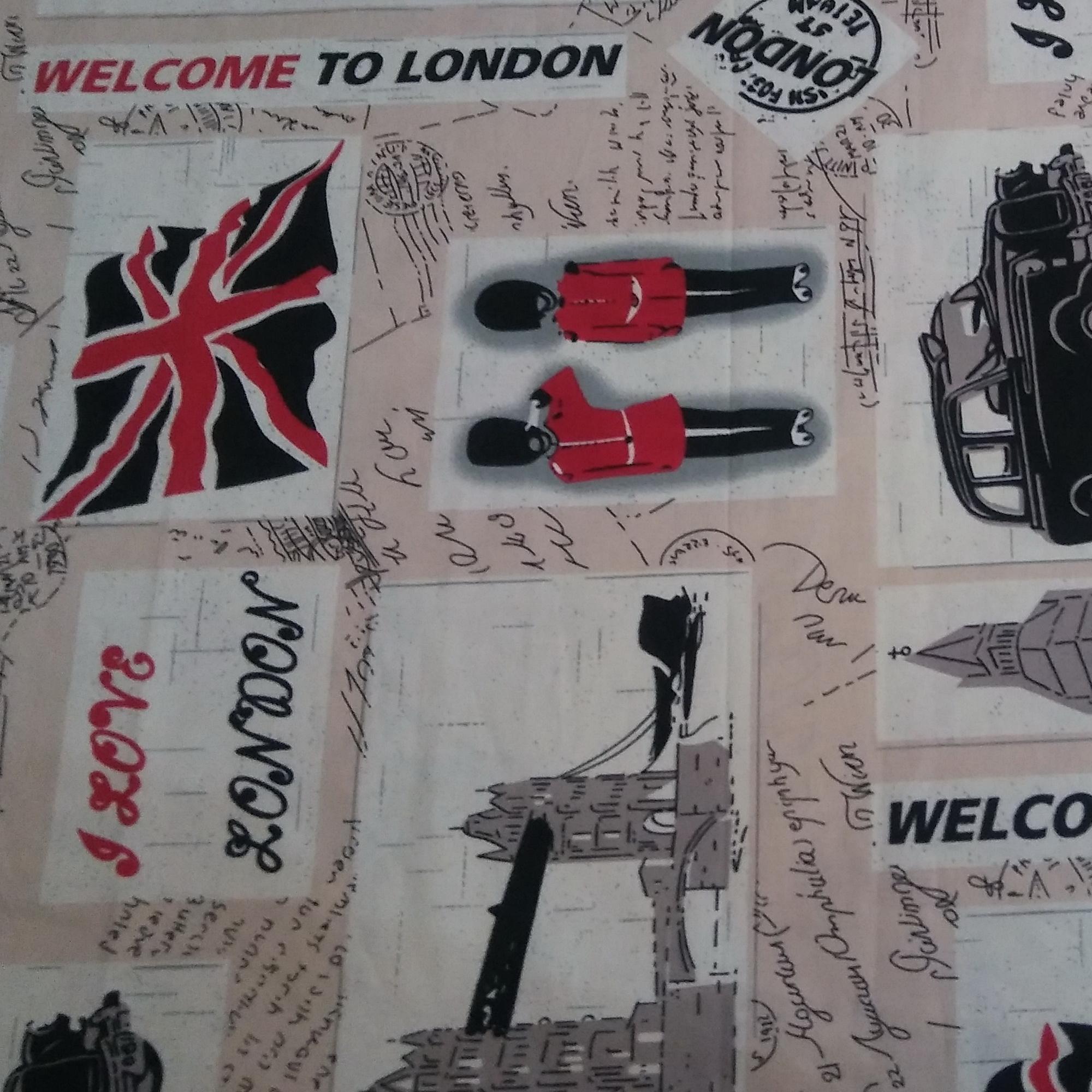 خرید                      پارچه ملحفه طرح لندن