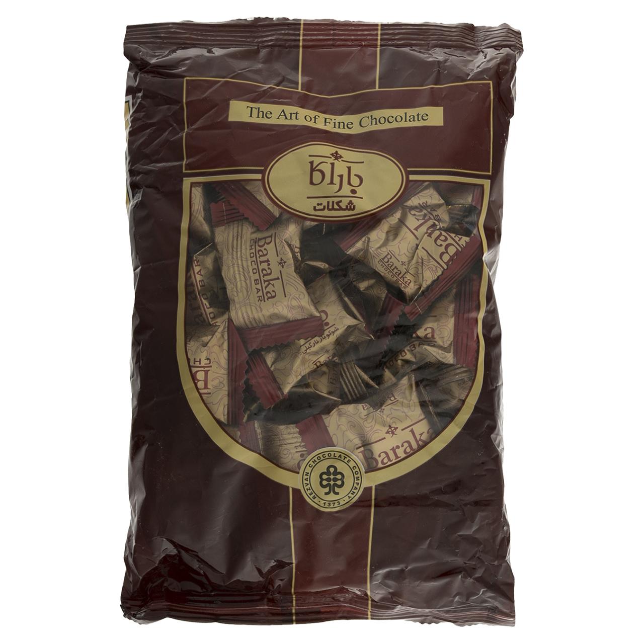 فرآورده نارگیلی با روکش کاکائویی باراکا مقدار 500 گرم