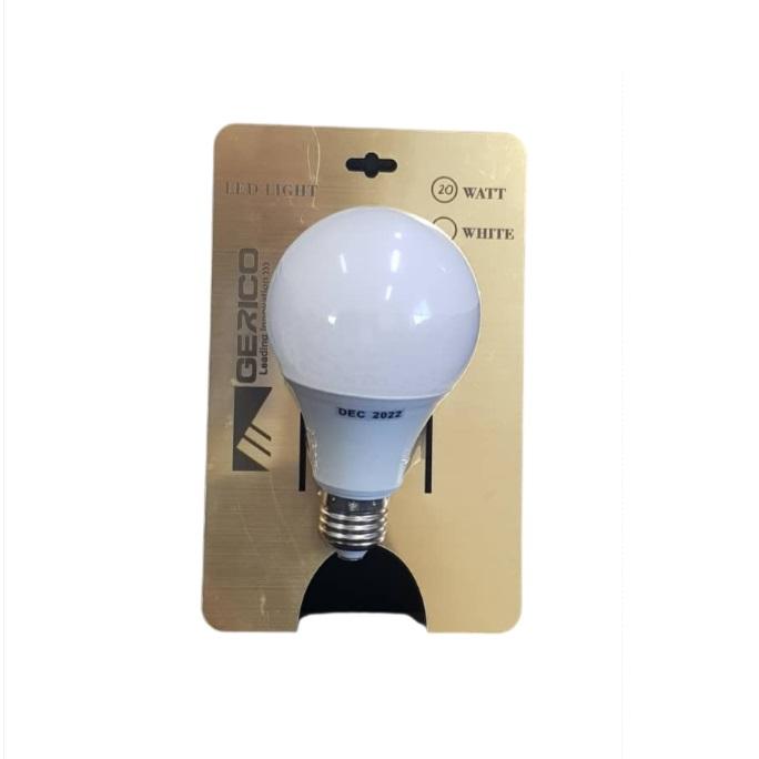 لامپ ال ای دی 20 وات جریکو مدل حبابی پایه E27 بسته 5 عددی