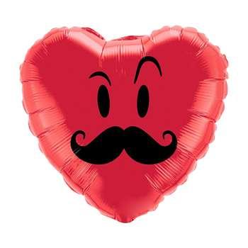 بادکنک فویلی مدل Love Mustache