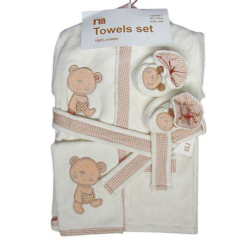 ست 5 تکه حوله نوزادی مادرکر طرح خرس مدل 1022