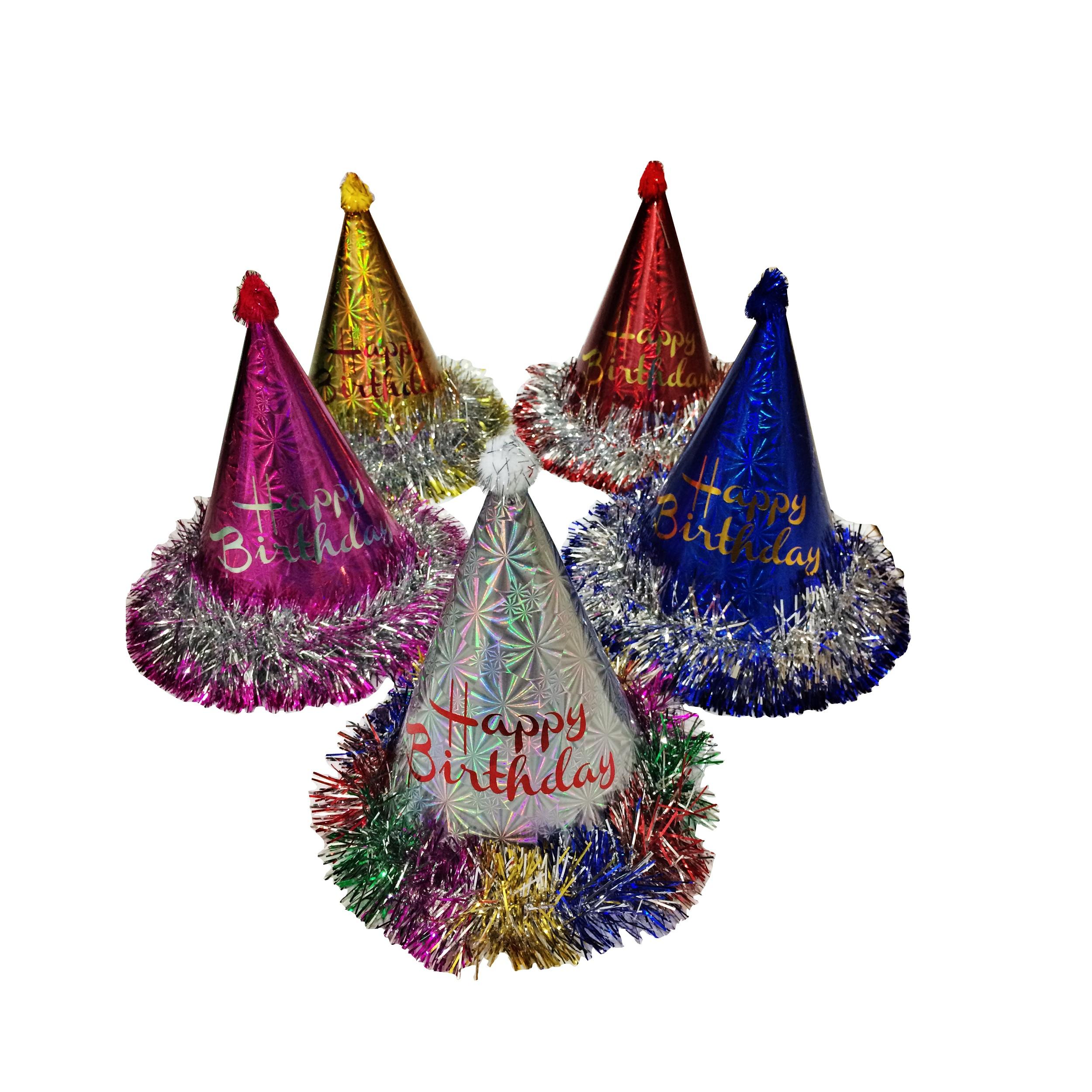 عکس کلاه تولد مدل 053 بسته 10 عددی