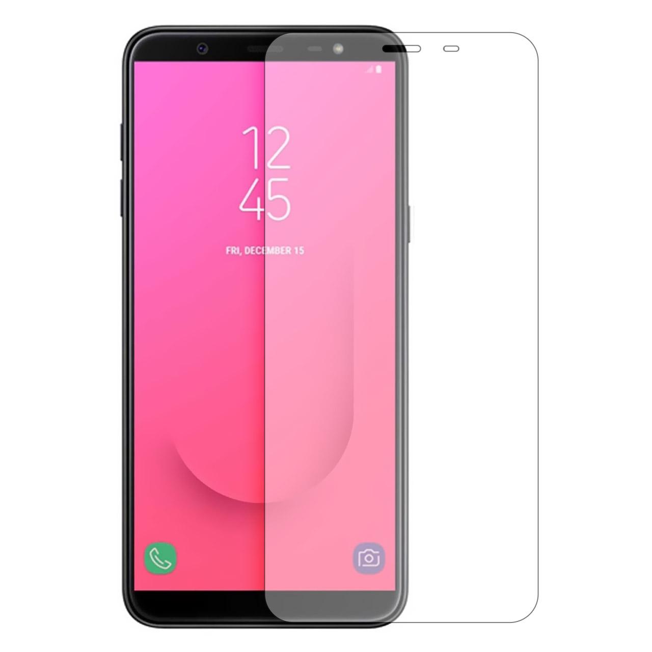 محافظ صفحه نمایش شیشه ای مدل Tempered مناسب برای گوشی موبایل سامسونگ Galaxy J6 2018