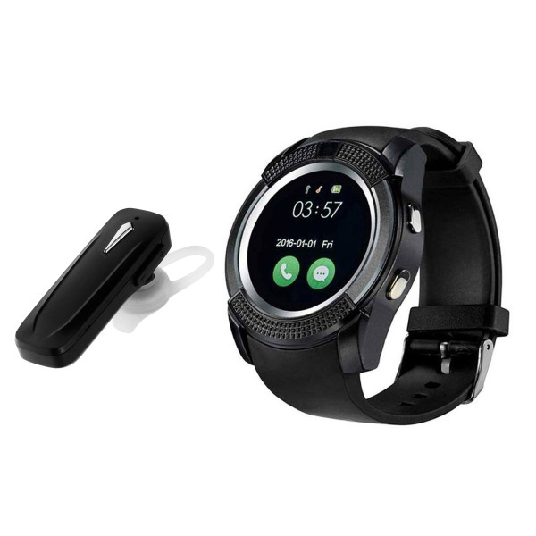 ساعت هوشمند مدل V8 به همراه هدفون بلوتوث مدل JB47