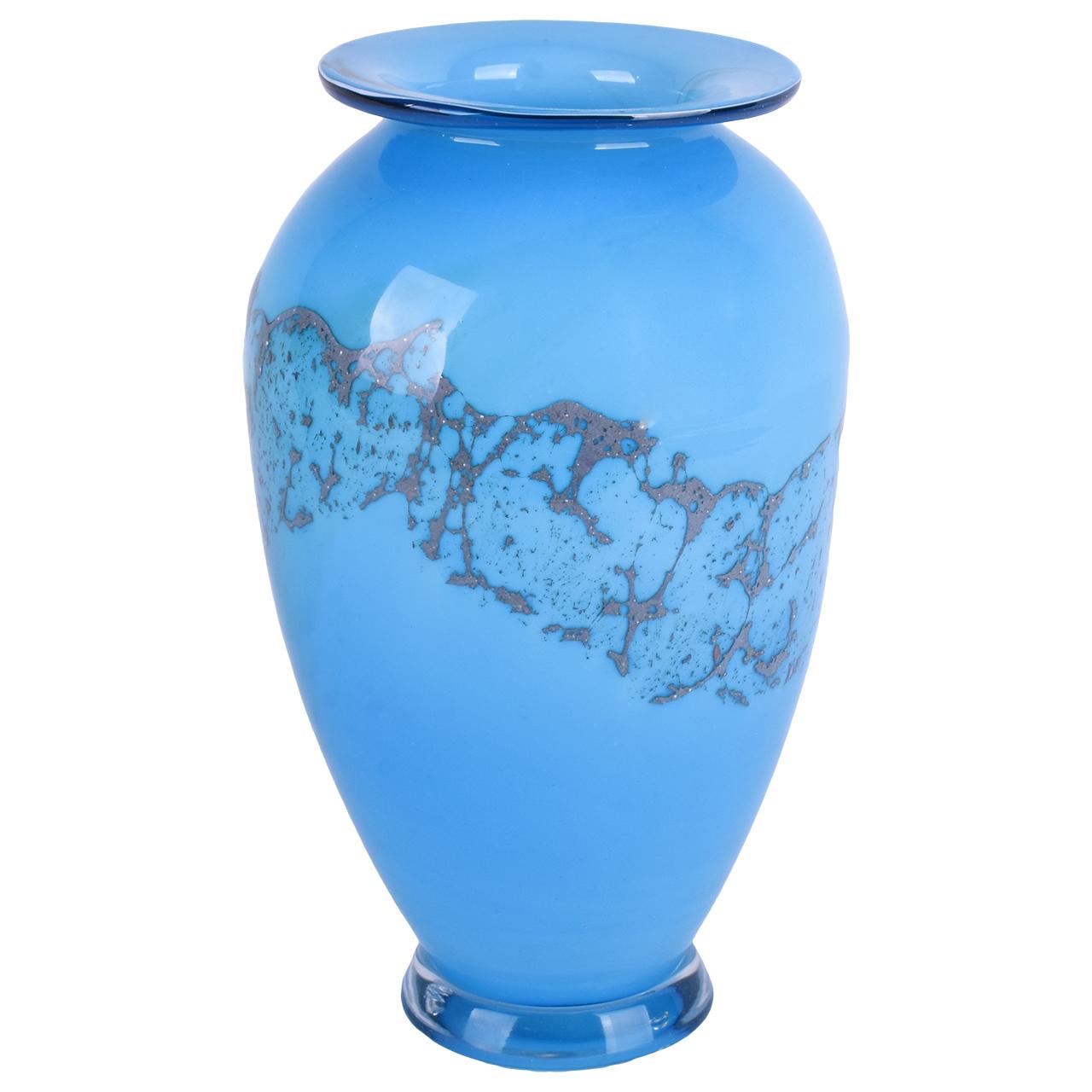 خرید                      گلدان شیشهای طرح کوزه گل کار مدل 00-05
