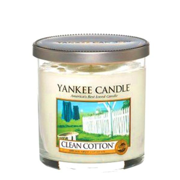 شمع کوچک لیوانی ینکی کندل مدل پارچه تمیز
