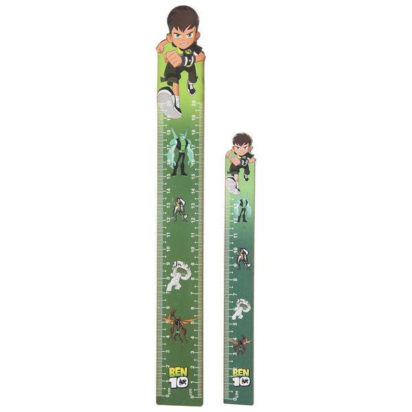 ست خط کش 20 سانتی متری مدل Ben Ten مجموعه دو عددی
