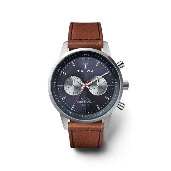 ساعت مچی عقربه ای تریوا مدل Blue Steel Nevil 6