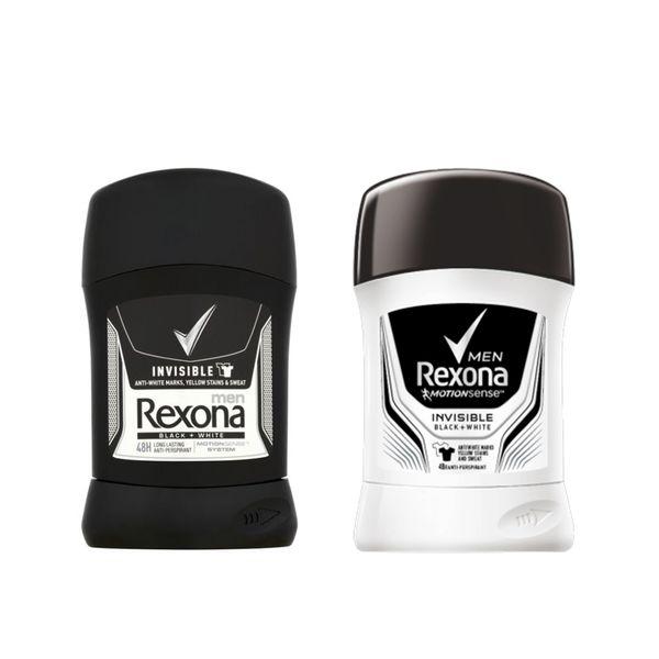 پک استیک ضد تعریق مردانه رکسونا مدل Invisible black & white حجم 40 میلی لیتر   Rexona Invisible Stick Deodorant Pack For Men