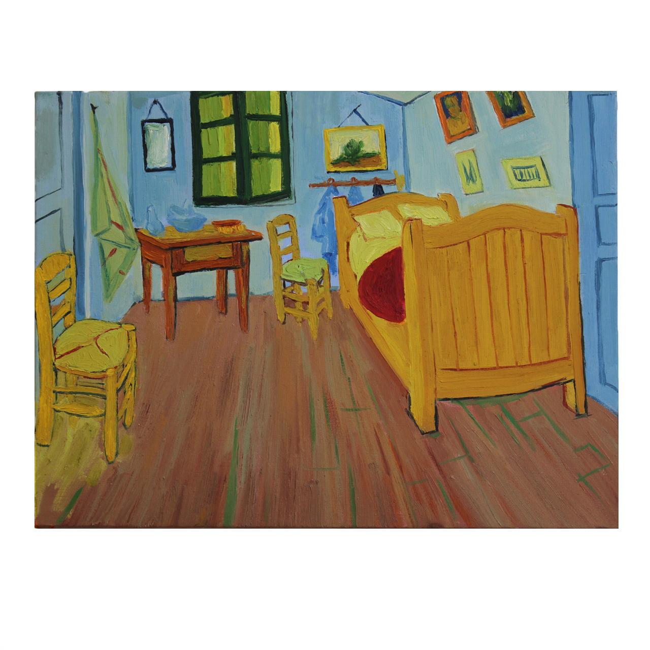 تابلو نقاشی رنگ روغن اتاق آرل اثر وینسنت ونگوگ