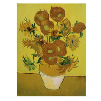 تابلو نقاشی رنگ روغن طرح گلهای آفتابگردان اثر وینست ونگوگ