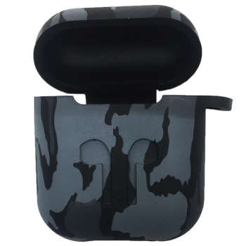 کاور محافظ سیلیکونی مدل Gray Army مناسب برای کیس اپل AirPods