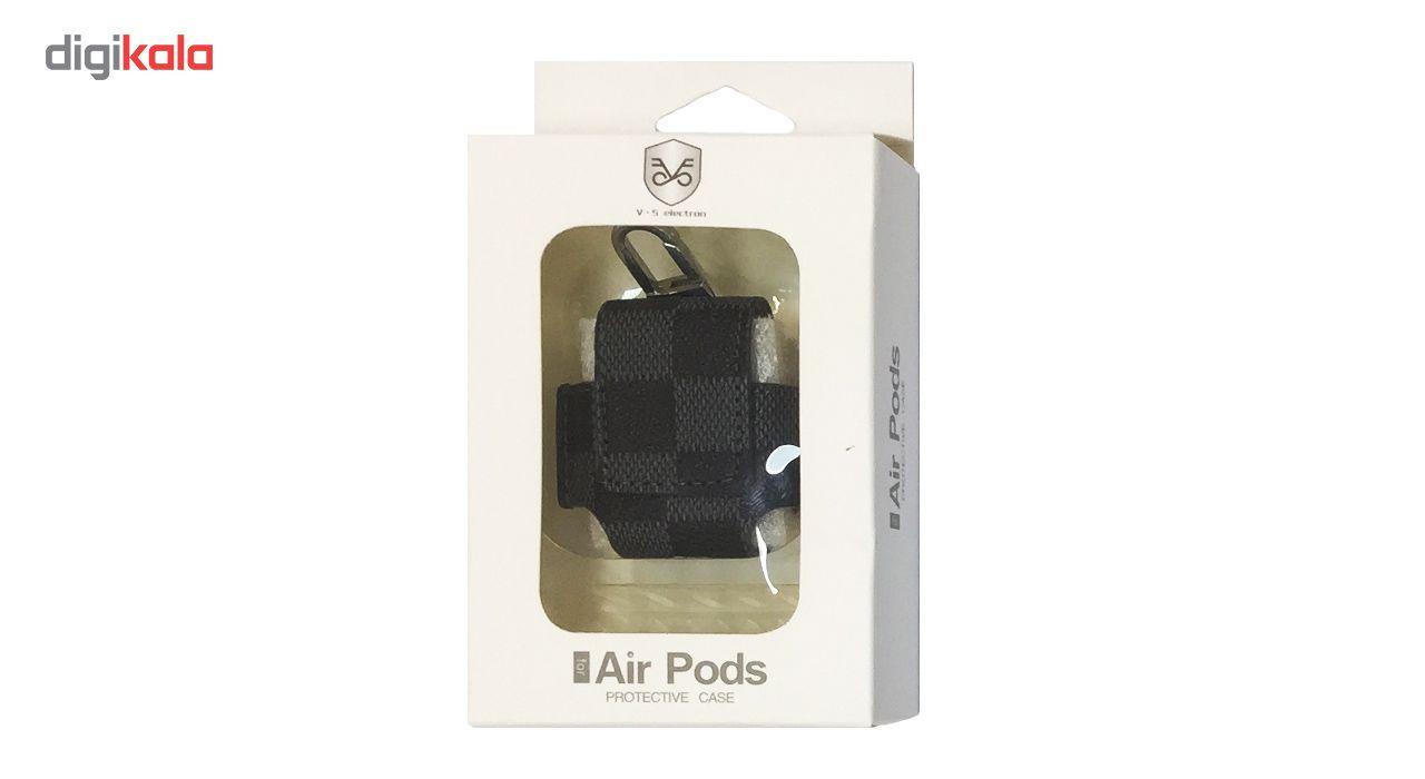 کاور محافظ چرمی مدل Protective مناسب برای کیس اپل AirPods main 1 4