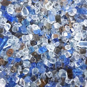 سنگ رنگی گلدان مدل broken glass مجموعه 3 بسته ای