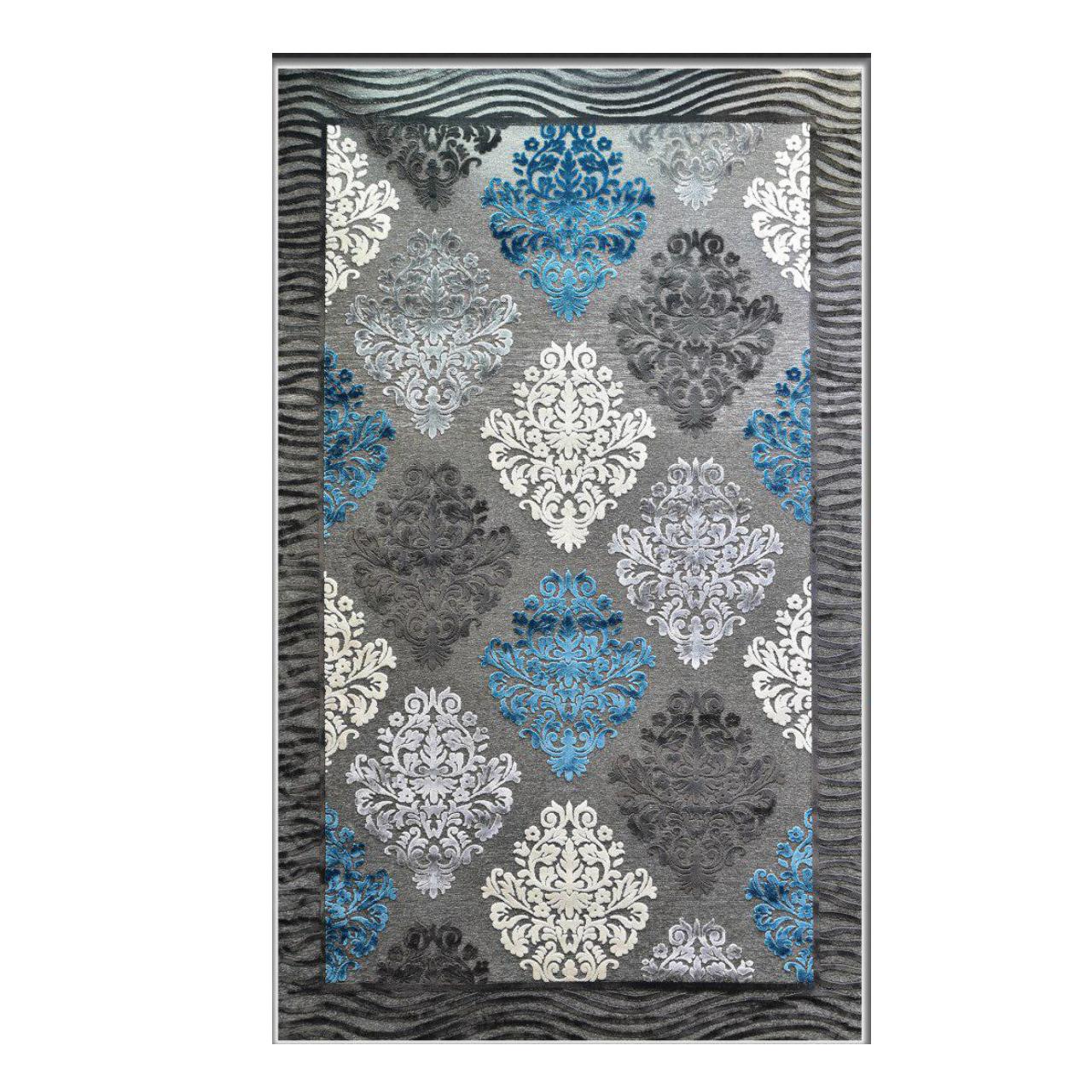 خرید                       فرش ماشینی طرح شنل کد 341 زمینه طوسی