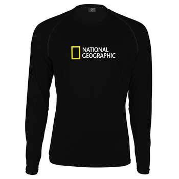 تی شرت آستین بلند پاتیلوک طرح نشنال جئوگرافیک مدل 330323