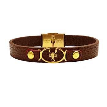 دستبند چرم کد BL-178 سایز M