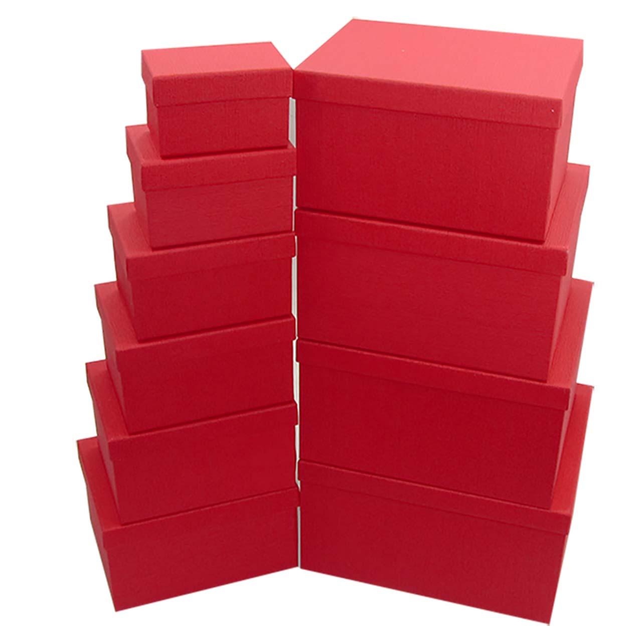 جعبه هدیه مستطیل رزپک مدل607 مجموعه ده عددی