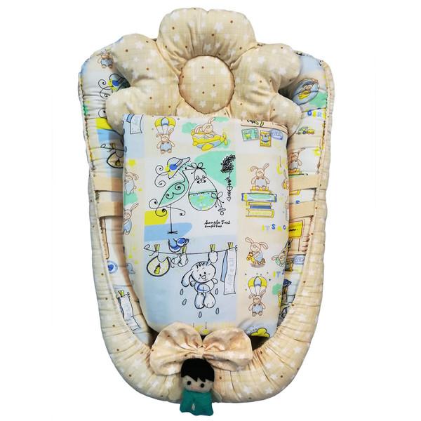 سرویس خواب نوزادی 3 تکه تاپ دوزانی مدل Baby1