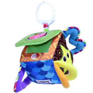 آویز عروسکی لمیز مدل Peekaboo Surprise Cube