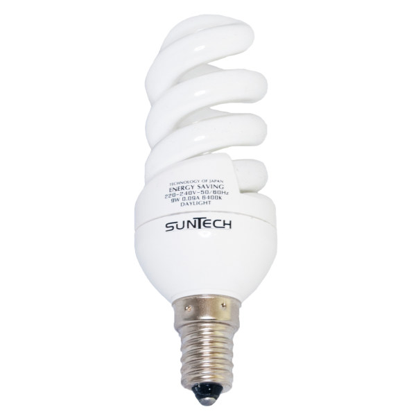 لامپ کم مصرف 9 وات سانتک مدل 925132 پایه E14