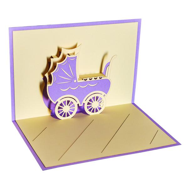 کارت پستال سه بعدی ارژنگ مدل تبریک تولد نوزاد کد CR018d