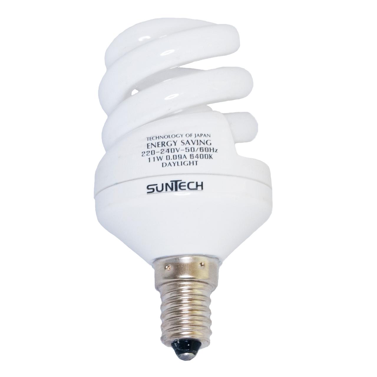 لامپ کم مصرف 11 وات سانتک مدل 925149 پایه E14