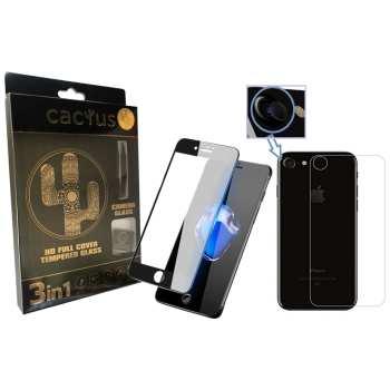 محافظ صفحه نمایش و لنز تمام چسب شیشه ای کاکتوس مدل HD FULL COVER  مناسب برای گوشی iphone 7/8