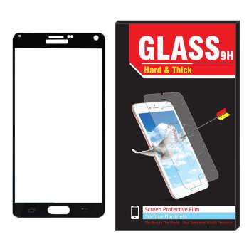 محافظ صفحه نمایش شیشه ای مدل Hard and thick فول کاور مناسب برای گوشی موبایل سامسونگ Galaxy note 4
