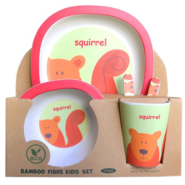 ظرف غذای کودک بامبو مدل سنجاب BD5018