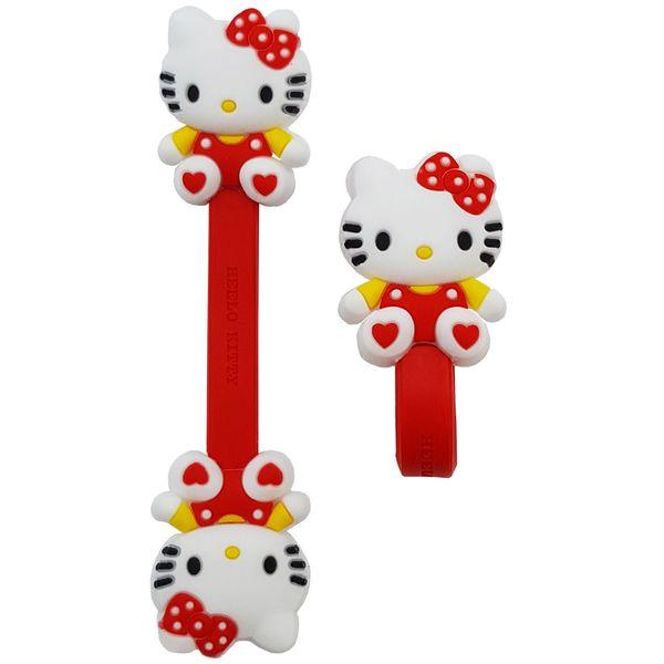بست کابل شارژ مدل Hello Kitty بسته دو عددی