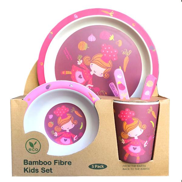 ظرف غذای کودک بامبو مدل دختر آشپز BES048