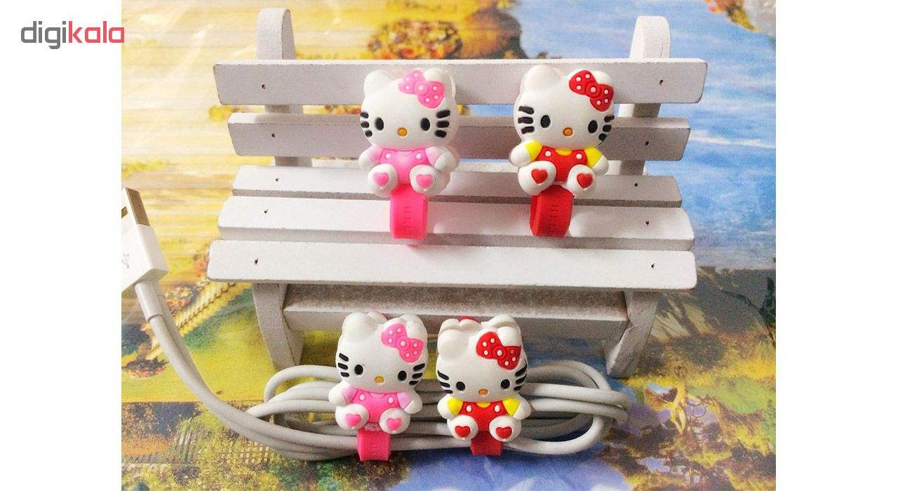 بست کابل شارژ مدل Hello Kitty بسته دو عددی main 1 2