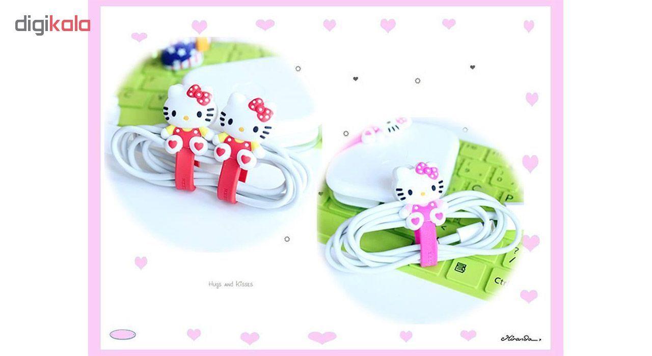 بست کابل شارژ مدل Hello Kitty بسته دو عددی main 1 3
