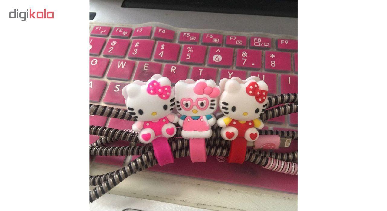 بست کابل شارژ مدل Hello Kitty بسته دو عددی main 1 4