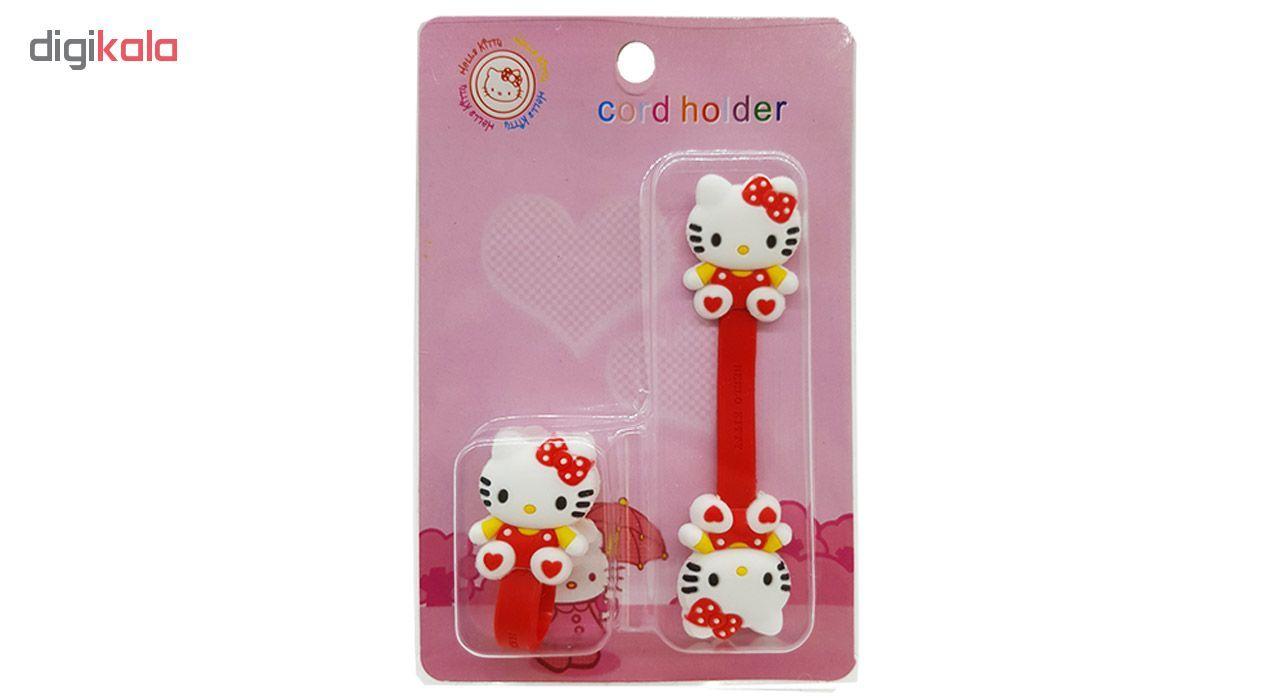 بست کابل شارژ مدل Hello Kitty بسته دو عددی main 1 6