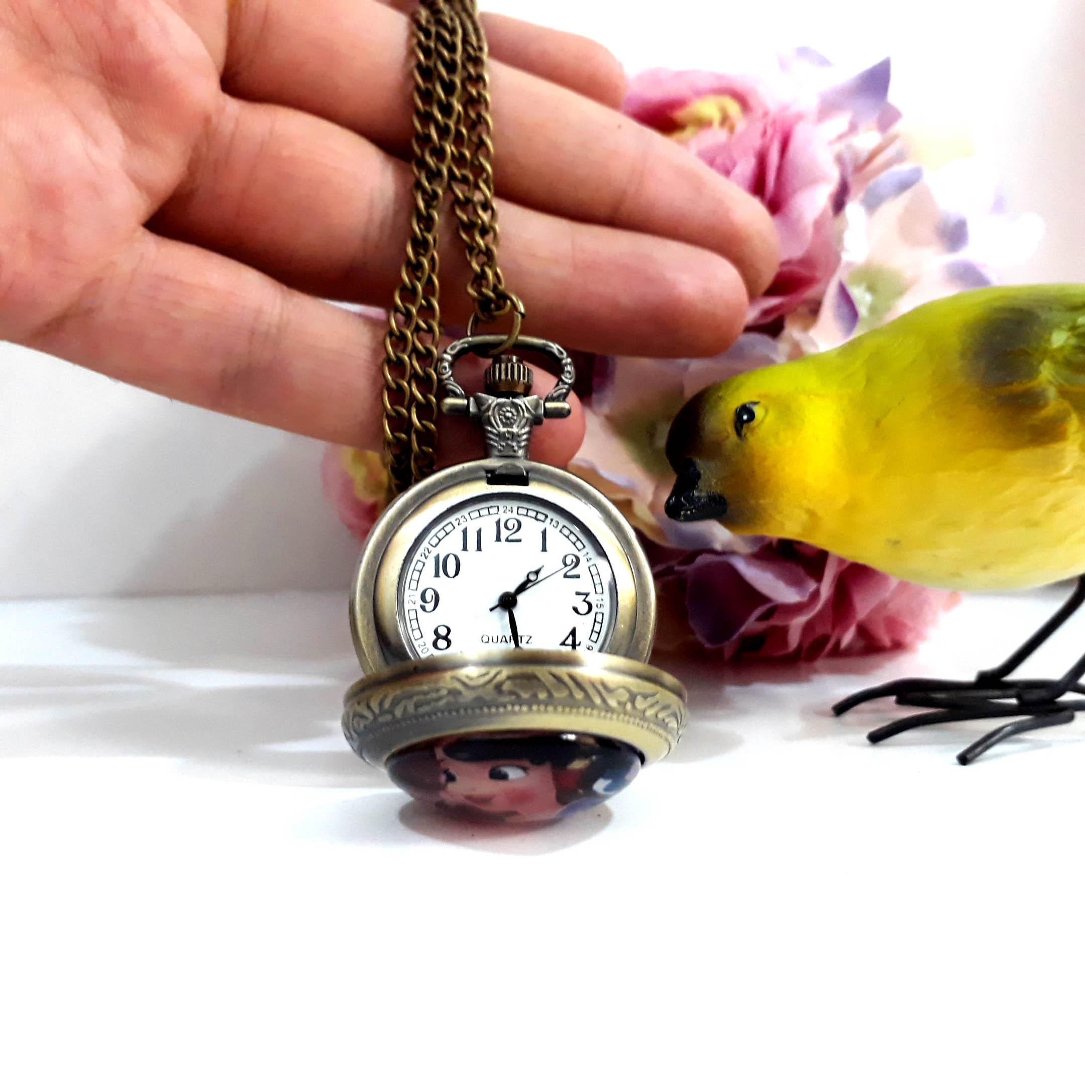 ساعت جیبی مدل سیندرلا کد 01