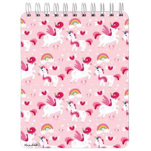 دفترچه یادداشت مستر راد 80 برگ طرح اسب تک شاخ کد unicorn 1334