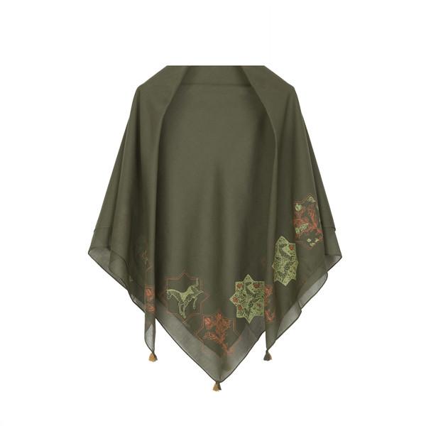 روسری زنانه گدار مدل رخش رنگ سبز سدری