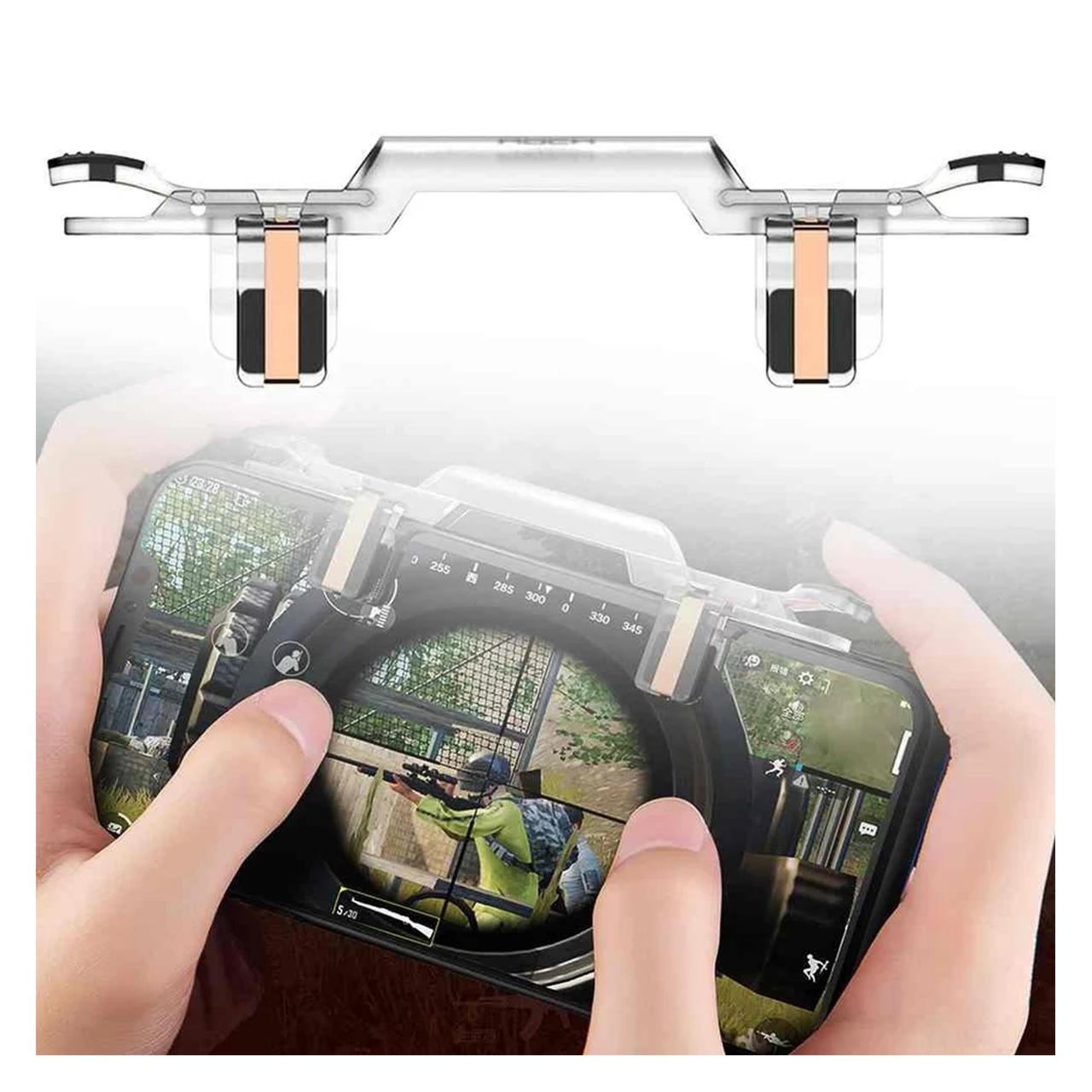 دسته بازی PubG هوک مدل HK001 مناسب برای گوشی موبایل              ( قیمت و خرید)