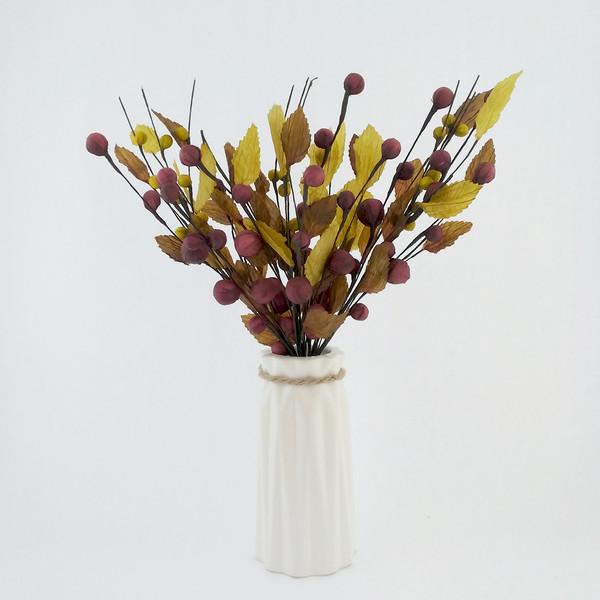 گلدان به همراه گل مصنوعی هومز مدل 70010
