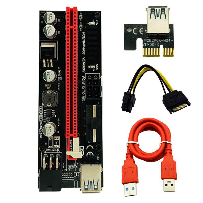 بررسی و {خرید با تخفیف} رایزر گرافیک تبدیل PCI EXPRESS X1 به X16 مدل VER009S اصل