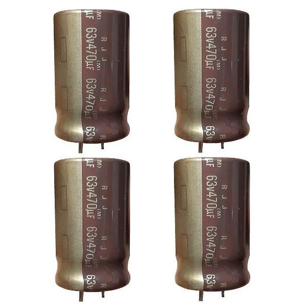 خازن الکترولیت 470 میکروفاراد النا مدل RJJ470UF63V بسته 4 عددی