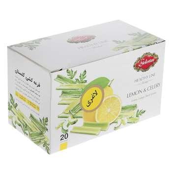 دمنوش مخلوط گیاهی با طعم لیمو و کرفس گلستان بسته 20عددی